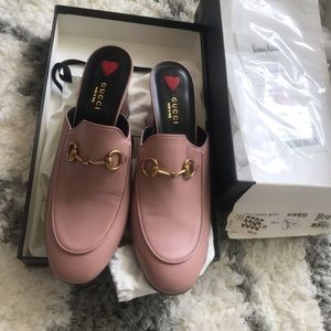 gucci loafer pink size 9.5, new with receipt